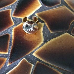 Custom letter M ring